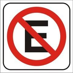 Auto adhesivo Prohibido estacionar 14x14