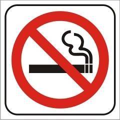 Auto adhesivo Prohibido Fumar 14x14cm