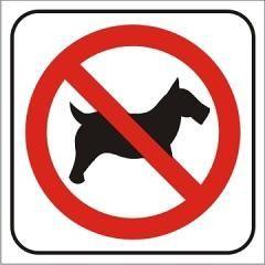 Auto adhesivo Prohibido ingresar animales 14x14cm