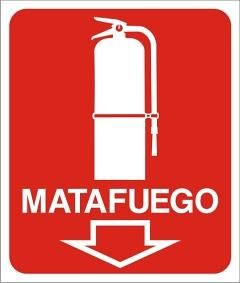 Cartel Matafuego 40x45 cm