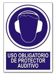 Cartel Uso Obligatorio de Protección Auditiva 40x45