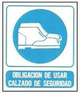 Cartel Obligatorio usar calzados de seguridad Cartel 22x26