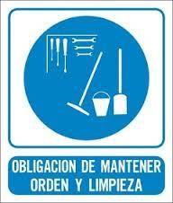 Cartel Obligacion Mantener Orden y Limpieza