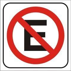 Cartel prohibido estacionar