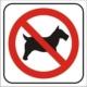Cartel prohibido mascotas