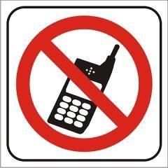 Cartel prohibido celulares