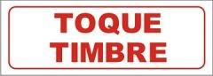 Cartel toque timbre