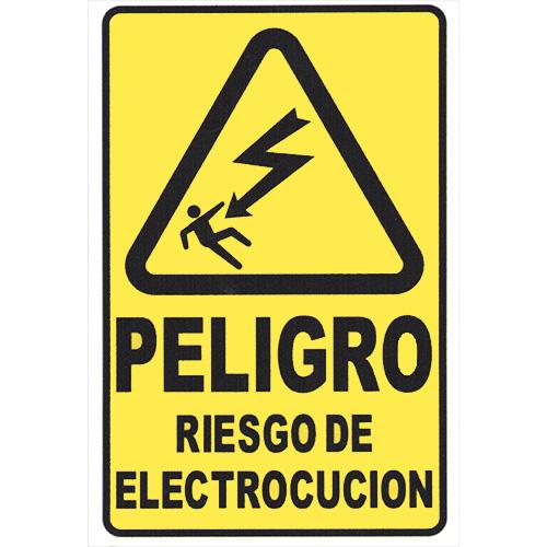 cartel peligro riesgo electrocucion